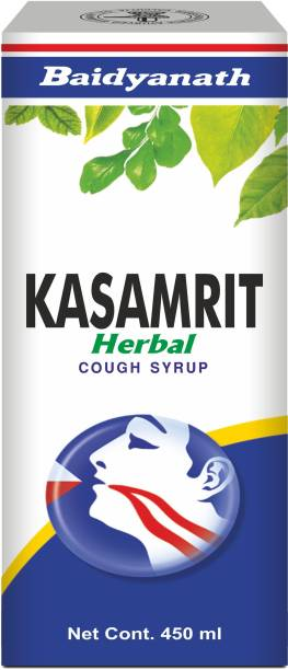 Baidyanath Kasamrit Herbal and Ayurvedic Cough Syrup, Non-Drowsy Formula, with Goodness of Tulsi, Mulethi, Pippal, Chhoti Kateri and 9 other Essential Herbs |