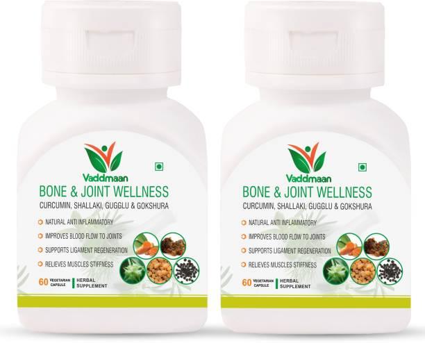 vaddmaan Bone & Joint Wellness - 60 Capsules | Curcumin| Shallaki | Gugglu | Gokshura | Ginger
