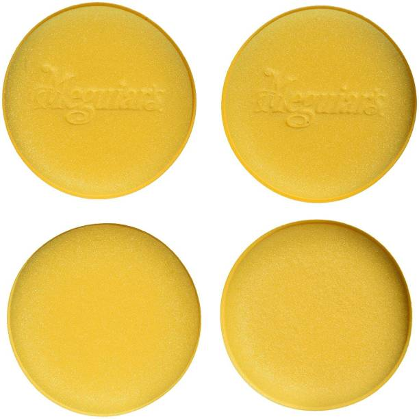 """Meguiars W0004 4"""" Foam Applicator Pads, 4 Pack Ultra-Soft Tight-Cell Foam Machine Washable Highly Durable Easily Apply Car Polish Car Wax Interior Dressing HV4088 Vehicle Interior Cleaner"""