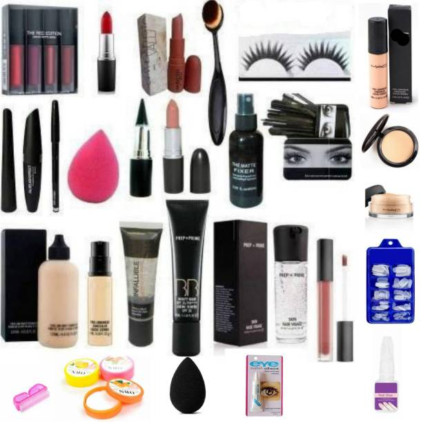 BeautyQua A complete set of Make up and Nail Art combo set of 29 best for Gift and Personal use ( Pack of 29 Products)