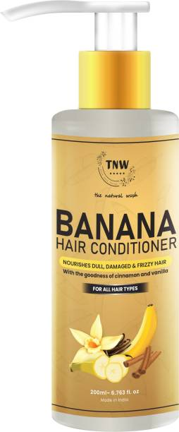 TNW - The Natural Wash Banana Hair Conditioner Nourishes Dull, Damaged & Frizzy Hair With the goodness of cinnamon and vanilla for all hair types