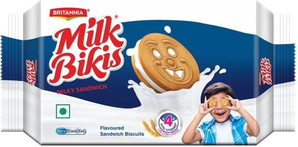 BRITANNIA Milk Bikis Sandwich Biscuits