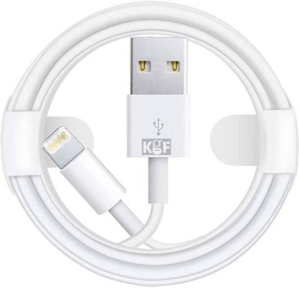 KGF USB Fast Charging Cable Compatible with All iPhone, iPad Air iPad Mini iPod Nano and iPod Touch (White) 1 m Micro USB Cable
