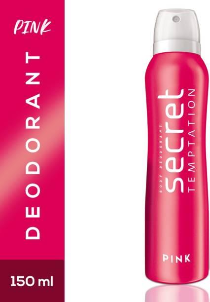secret temptation Pink Deodorant Spray  -  For Women