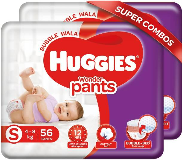 Huggies Wonder Pants Combo Pack with Bubble Bed Technology - S