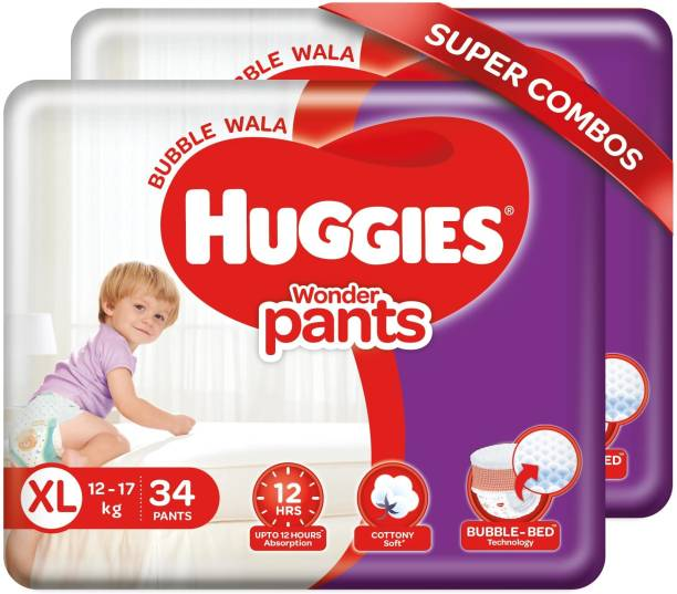Huggies Wonder Pants Extra Large Size Diapers Combo Pack - XL