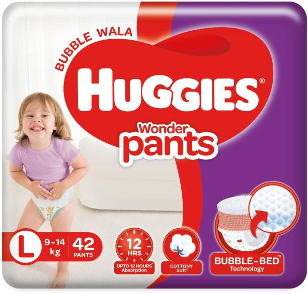 Huggies Wonder Pants Large Size Diapers - L