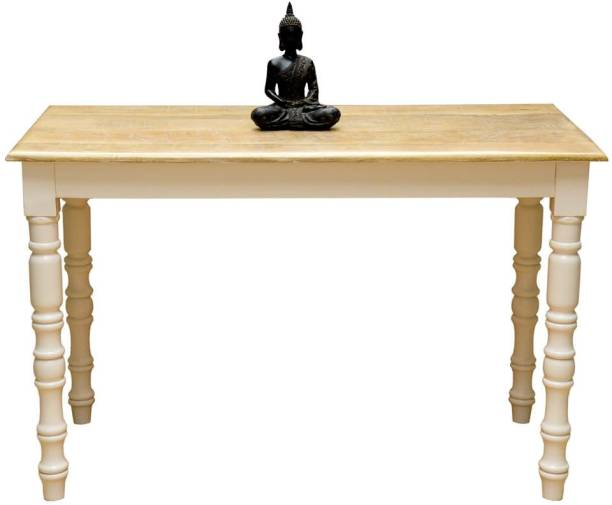o my furniture Solid Wood 4 Seater Dining Table