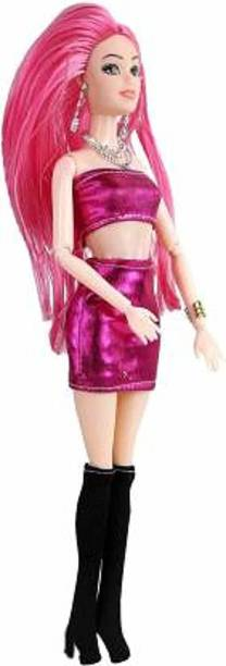 Yunicorn Max Princess Pink Barbie Foldable Doll. Flexible Hands & Legs make her more Attractive
