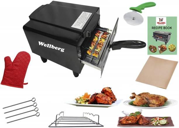 Wellberg Mini Combo Pizza Maker, Electric Tandoor 1 year warrenty for heating element Electric Tandoor Pizza Maker