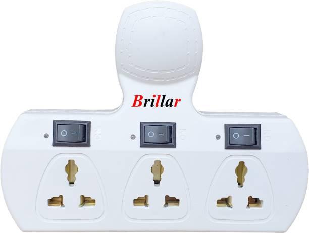Brillar Multiplug with Individual Switches, Indicators & Protection Fuse 6 A Three Pin Socket