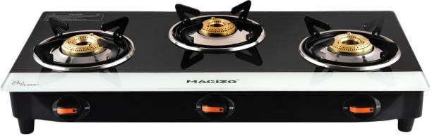 MACIZO Magic ISI Certified Glass Manual Gas Stove