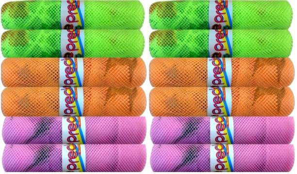 Precise Fridge Net Bag for Vegetable & Fruit Storage Reusable Washable Multipurpose Organizer Printed Mesh Bag with Zip. Pack of 12 Grocery Bags