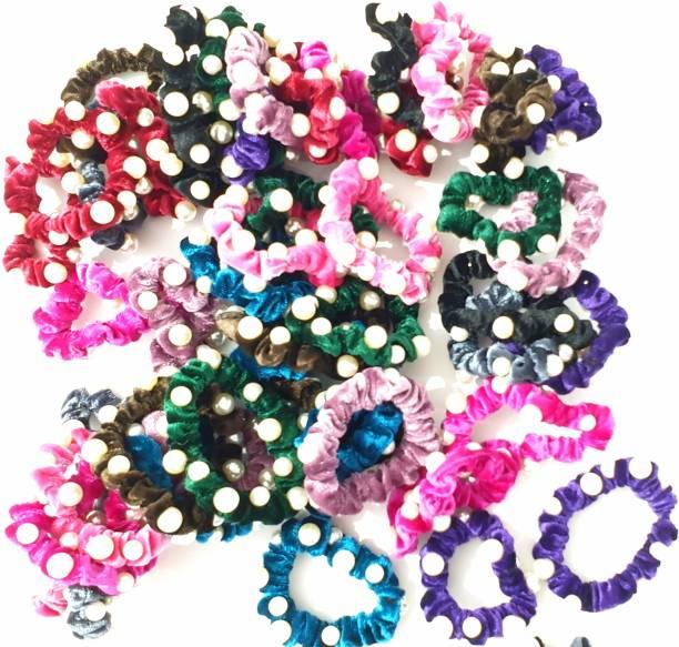 RosaStella 24 Pcs Velvet Hair Scrunchies elastic rubber bands for Women or Girls Hair Accessories Rubber Band