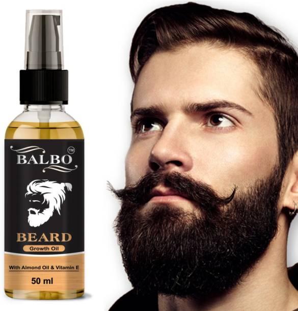 BALBO Beard Growth Oil - 50ml - More Beard Growth, 8 Natural Oils including Jojoba Oil, Vitamin E, Nourishment & Strengthening, No Harmful Chemicals Hair Oil