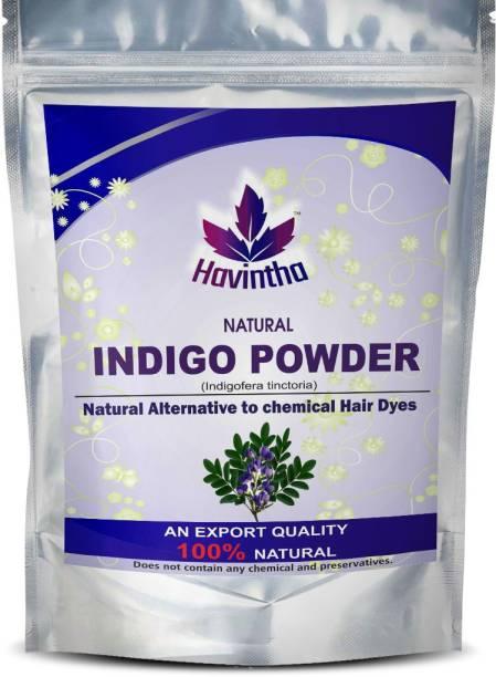 Havintha NATURAL INDIGO POWDER for Hair & Beard,natural way to color your hair