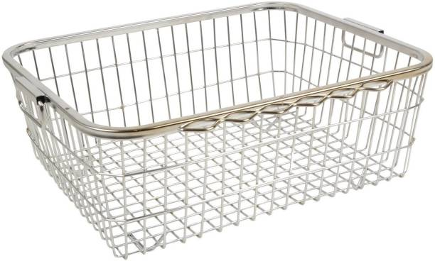 FLIP FINZ Heavy Stainless Steel Large Dish Drainer No.1 (51 Cm X 38 Cm X 21 Cm) Made in India Dish Drainer Kitchen Rack