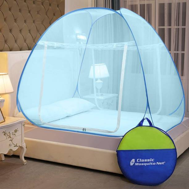 Classic Mosquito Net Polyester Adults Foldable for Double Bed & King Size Bed -(200*200*145 CM) Mosquito Net
