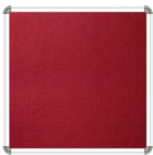 SRIRATNA Maroon Premium Material Notice Pin-up Board/Pin- up Board/ Bulletin Board/Soft Board , Maroon Notice Board