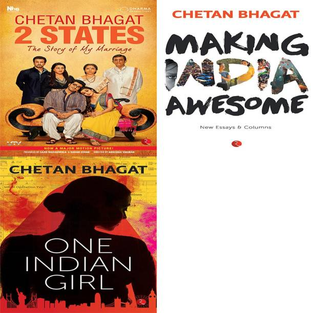 One Indian Girl + Making India Awesome: New Essays And Columns + 2 States The Story Of My Marriage (Set Of 3 Books)