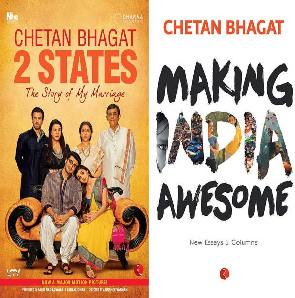 Making India Awesome: New Essays And Columns + 2 States The Story Of My Marriage (Set Of 2 Books)
