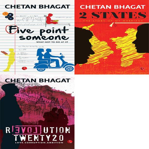 Revolution Twenty 20: Love. Corruption. Ambition + 2 States: The Story Of My Marriage + Five Point Someone ; What Not To Do At IIT (Set Of 3 Books)