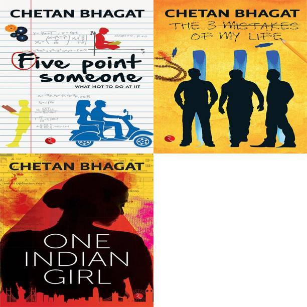 One Indian Girl + The 3 Mistakes Of My Life + Five Point Someone ; What Not To Do At IIT (Set Of 3 Books)