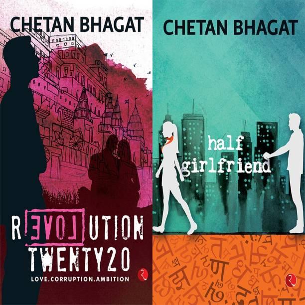 Half Girlfriend + Revolution Twenty 20: Love. Corruption. Ambition (Set Of 2 Books)