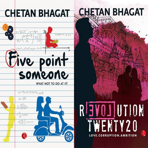 Revolution Twenty 20: Love. Corruption. Ambition + Five Point Someone ; What Not To Do At IIT (Set Of 2 Books)