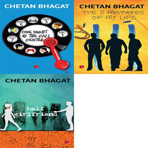 Half Girlfriend + The 3 Mistakes Of My Life + One Night @ The Call Centre (Set Of 3 Books)