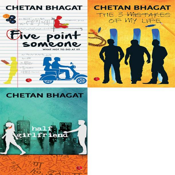 Half Girlfriend + The 3 Mistakes Of My Life + Five Point Someone ; What Not To Do At IIT (Set Of 3 Books)