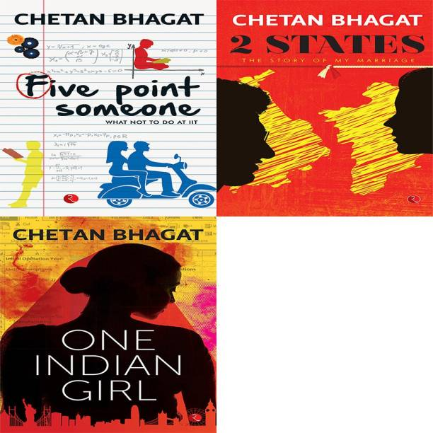 One Indian Girl + 2 States: The Story Of My Marriage + Five Point Someone ; What Not To Do At IIT (Set Of 3 Books)