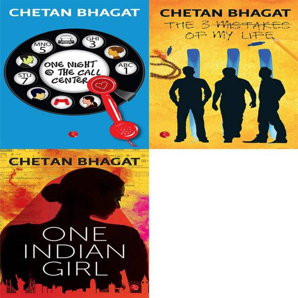 One Indian Girl + The 3 Mistakes Of My Life + One Night @ The Call Centre (Set Of 3 Books)