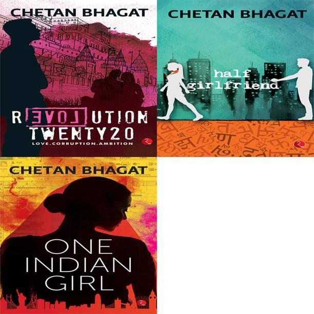 Chetan Bhagat Combo - Revolution Twenty20, Half Girlfriend, One Indian Girl (Set Of 3 Books)