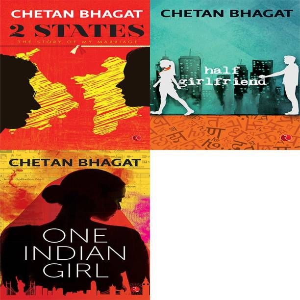 One Indian Girl + Half Girlfriend + 2 States: The Story Of My Marriage (Set Of 3 Books)