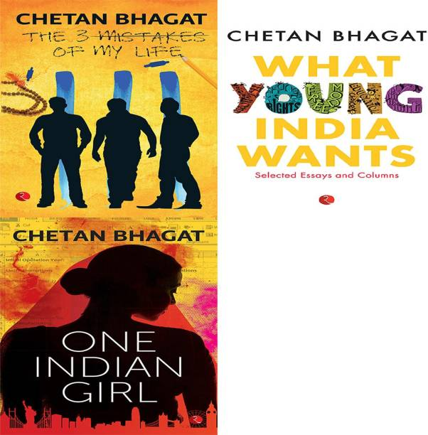One Indian Girl + What Young India Wants: Selected Non - Fiction + The 3 Mistakes Of My Life (Set Of 3 Books)