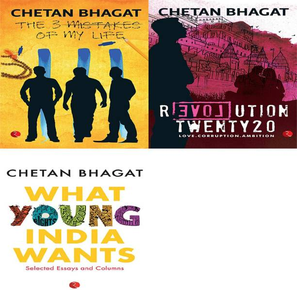 Chetan Bhagat Combo - 3 Mistakes Of My Life, Revolution Twenty20, What Young India Wants (Set Of 3 Books)