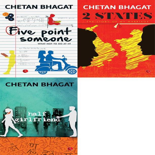 Half Girlfriend + 2 States: The Story Of My Marriage + Five Point Someone ; What Not To Do At IIT (Set Of 3 Books)