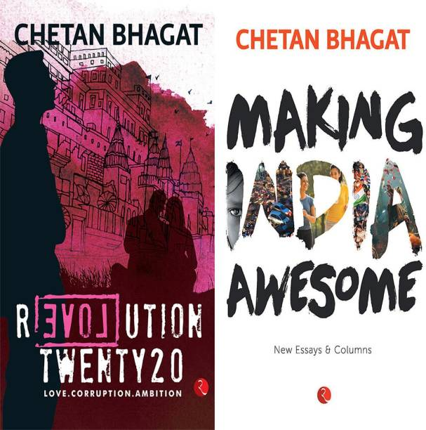 Making India Awesome: New Essays And Columns + Revolution Twenty 20: Love. Corruption. Ambition (Set Of 2 Books)