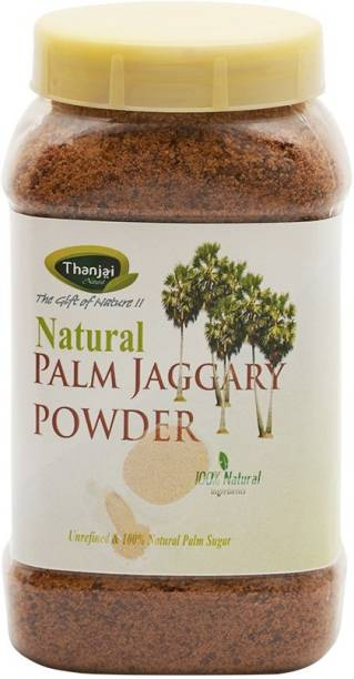 Thanjai iyerkai Palm Sugar|Palm Jaggery Powder 500g Jar 100% Pure Natural Unrefined Traditional Method Made Sugar