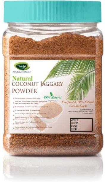 Thanjai iyerkai Coconut Sugar|Coconut Jaggery Powder 1500g Jar 100% Pure Natural Unrefined Traditional Method Made Sugar