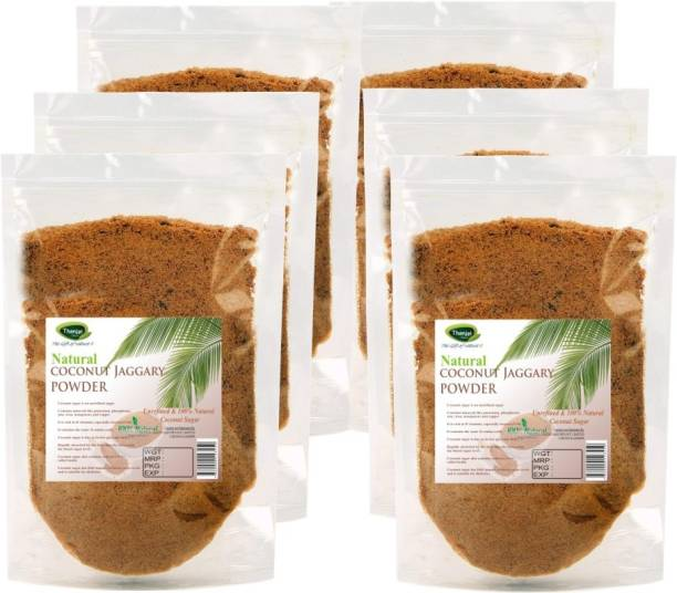 Thanjai iyerkai Coconut Sugar|Coconut Jaggery Powder 3000g 100% Pure Natural Unrefined Traditional Method Made Sugar