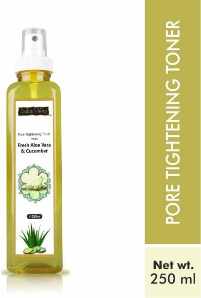 Indus Valley Organic Ayurveda Pore Tightening Toner With - Fresh Aloe Vera & Cucumber Water Men & Women