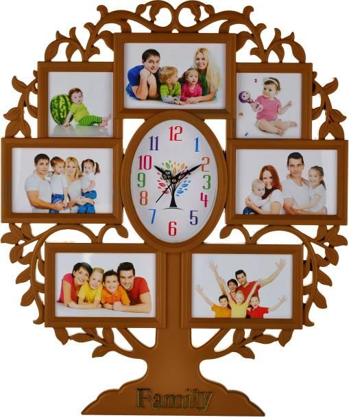 Att'z Analog 58 cm X 48 cm Wall Clock