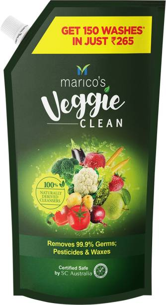 Veggie Clean Fruits & Vegetables Washing Liquid, Refill Pack, Removes Germs, Bacteria, Chemicals and Waxes