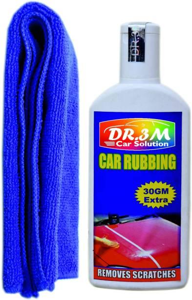 dr.3m CAR RUBBING 100gm.(30gm EXTRA)+MICROFIBER CLOTH (BLUE). Combo