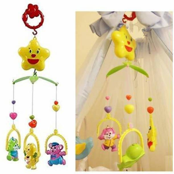 Yunicorn Max Musical Rattle Cot Mobile Rotating for Cradle and Bed Jhoomer for Kids/ Toddlers/ New Born Baby- No Batteries Required Rattle Rattle Rattle
