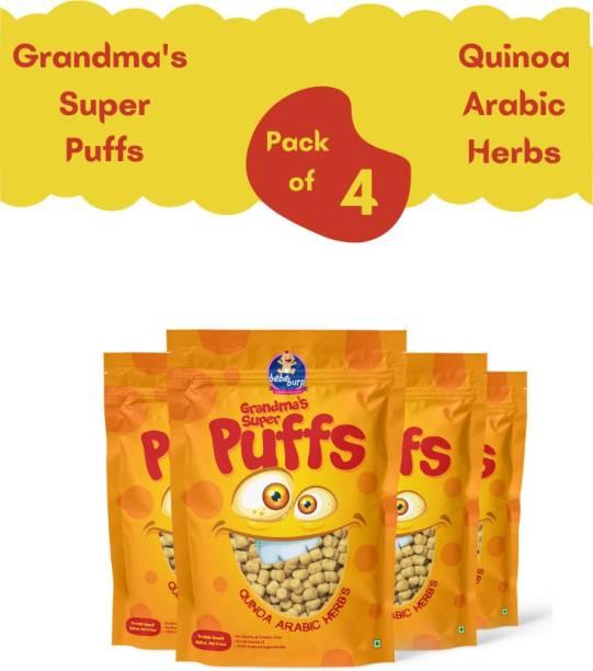 bebe burp GRANDMA'S SUPER PUFFS QUINOA ARABIC HERBS (PACK OF 4) Baby Puffs 200 g