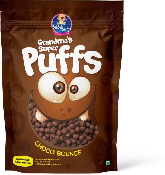 bebe burp GRANDMA'S SUPER PUFFS CHOCO BOUNCE (PACK OF 4) Baby Puffs 200 g