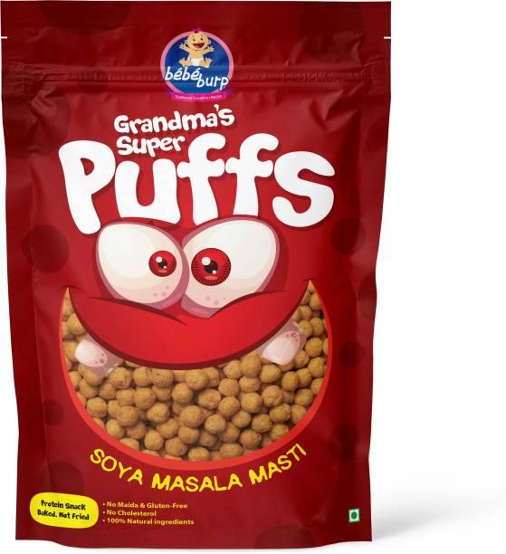 bebe burp GRANDMA'S SUPER PUFFS SOYA MASALA MASTI (PACK OF 4) Baby Puffs 200 g
